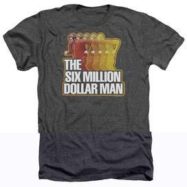 SIX MILLION DOLLAR MAN RUN FAST - ADULT HEATHER - CHARCOAL