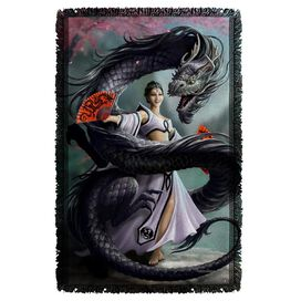 Anne Stokes Dragon Dancer Woven Throw