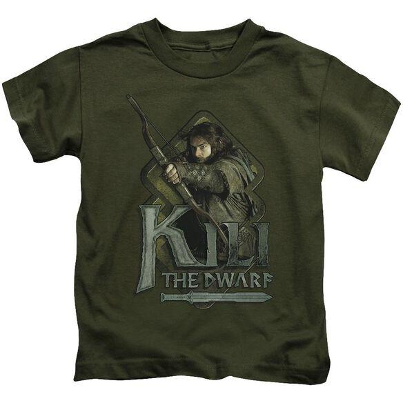 The Hobbit Kili Short Sleeve Juvenile Military Green T-Shirt