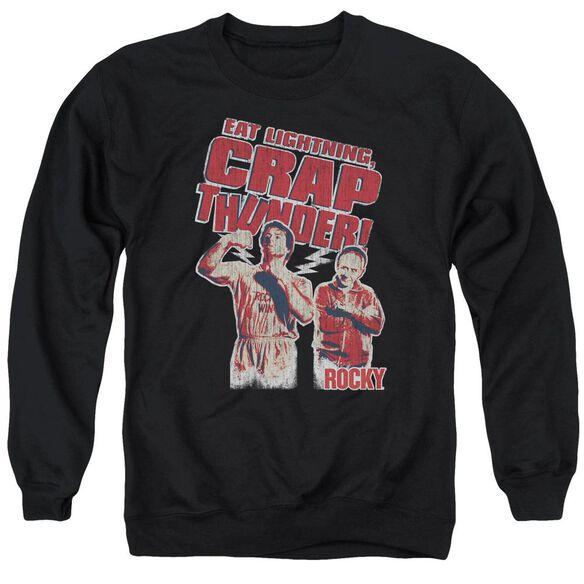 Rocky Eat Lightning Adult Crewneck Sweatshirt
