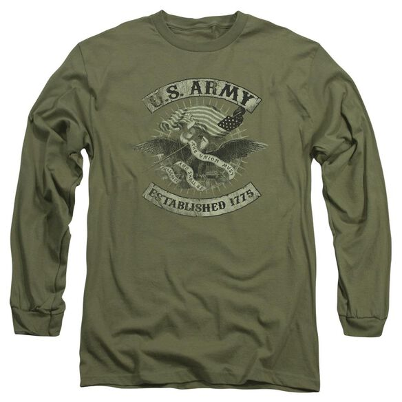 Army Union Eagle Long Sleeve Adult Military T-Shirt