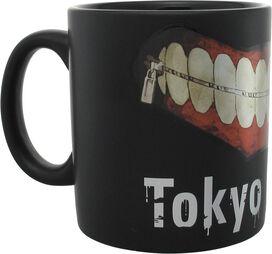 Tokyo Ghoul Zipper Mouth Matte Black Jumbo Mug