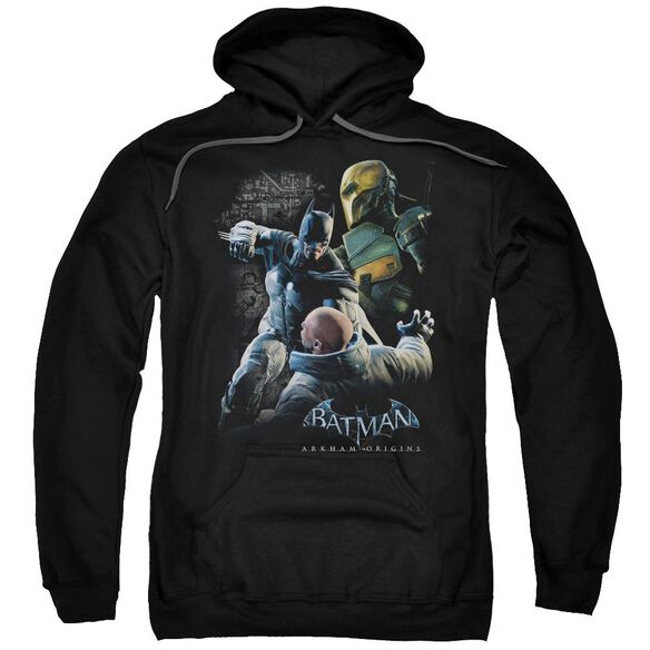 Batman Arkham Origins Punch Adult Pull Over Hoodie