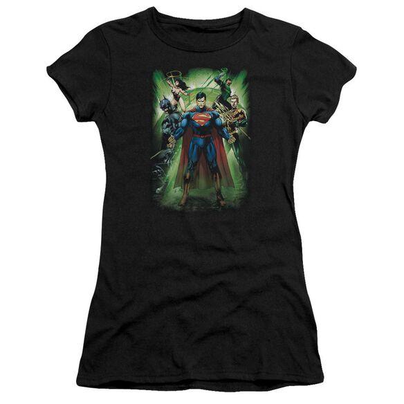 Jla Power Burst Short Sleeve Junior Sheer T-Shirt