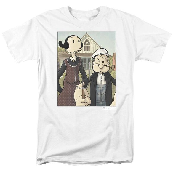 POPEYE POPEYE GOTHIC - S/S ADULT 18/1 - WHITE T-Shirt