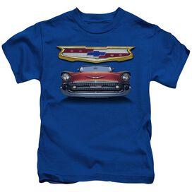 Chevrolet 1957 Bel Air Grille Short Sleeve Juvenile Royal Blue T-Shirt