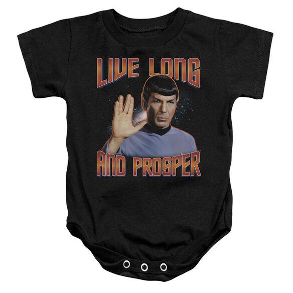 St Original Live Long And Prosper Infant Snapsuit Black Lg