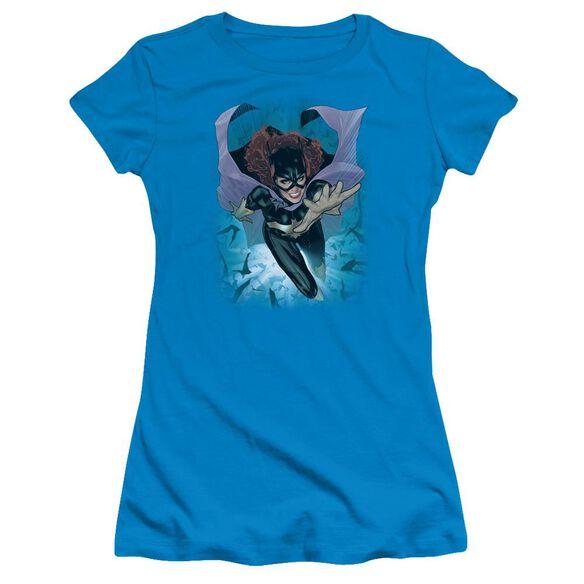 Jla Batgirl #1 Short Sleeve Junior Sheer T-Shirt
