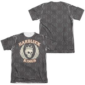 Hardluck Kings Pattern (Front Back Print) Adult Poly Cotton Short Sleeve Tee T-Shirt