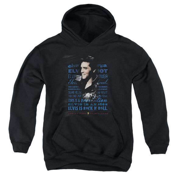 Elvis Presley Icon Youth Pull Over Hoodie