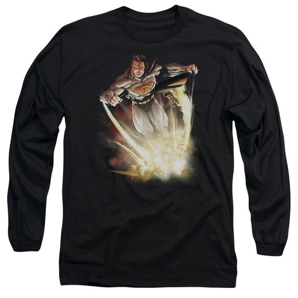 SUPERMAN EXPLOSIVE - L/S ADULT 18/1 - BLACK T-Shirt
