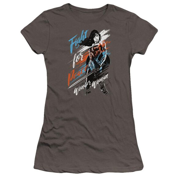 Wonder Woman Movie Fight For Peace Hbo Short Sleeve Junior Sheer T-Shirt