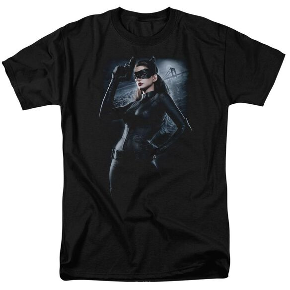 Dark Knight Rises Out On The Town Short Sleeve Adult Black T-Shirt