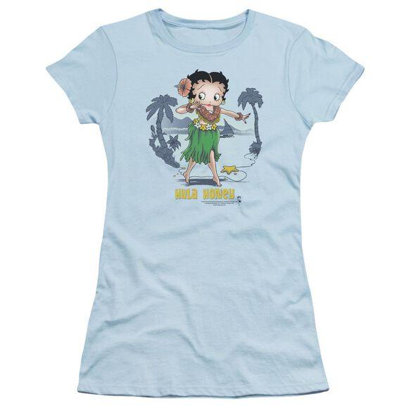 Betty Boop Hula Honey Short Sleeve Junior Sheer Light T-Shirt