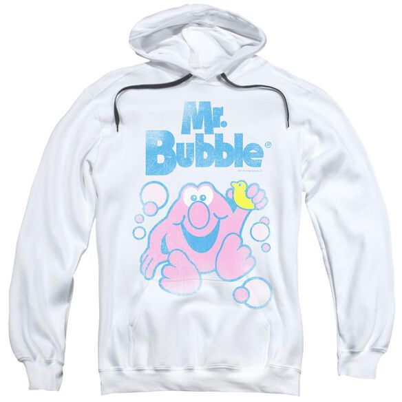 Mr Bubble 80 S Logo Adult Pull Over Hoodie