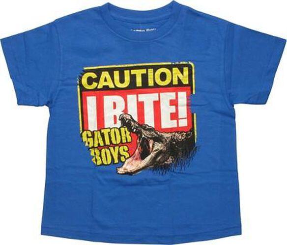 Gator Boys Caution I Bite Youth T-Shirt
