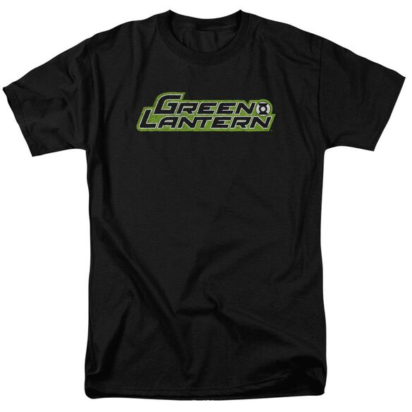 Green Lantern Scribble Title Short Sleeve Adult T-Shirt