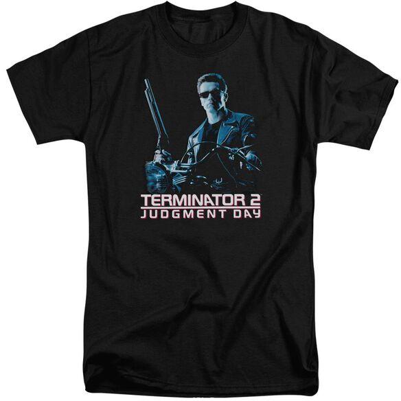Terminator 2 Poster Short Sleeve Adult Tall T-Shirt