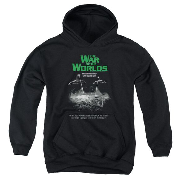 War Of The Worlds Attack Poster Youth Pull Over Hoodie