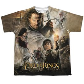 Lor King Poster Short Sleeve Youth Poly Crew T-Shirt