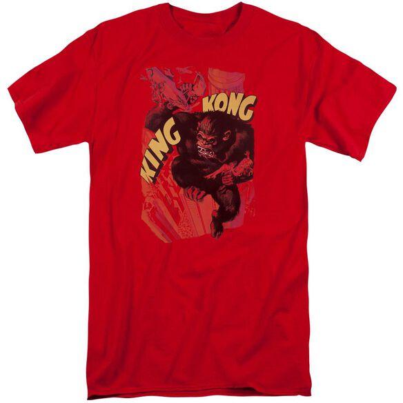 King Kong Plane Grab Short Sleeve Adult Tall T-Shirt