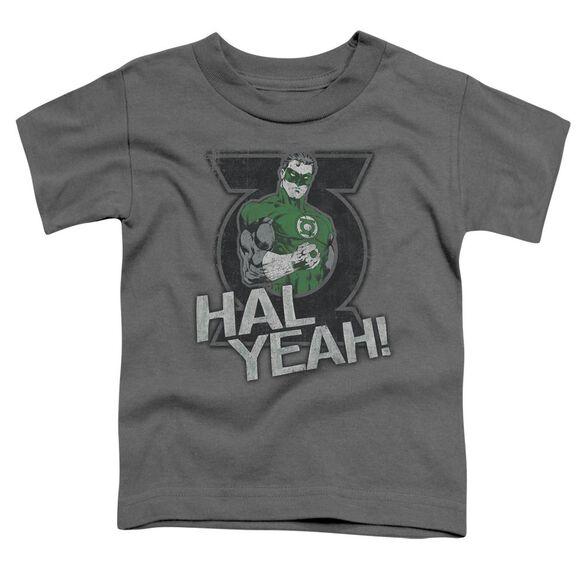 Green Lantern Hal Yeah Short Sleeve Toddler Tee Charcoal T-Shirt