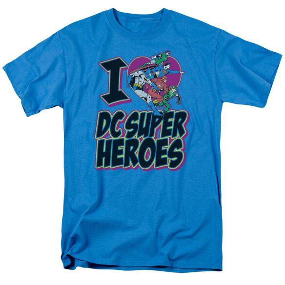 Dc I Heart Dc Short Sleeve Adult Turquoise T-Shirt