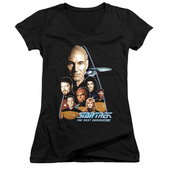 Star Trek The Next Generation - Junior V-neck - Black
