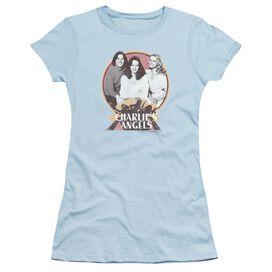 Charlies Angels Retro Group Short Sleeve Junior Sheer Light T-Shirt