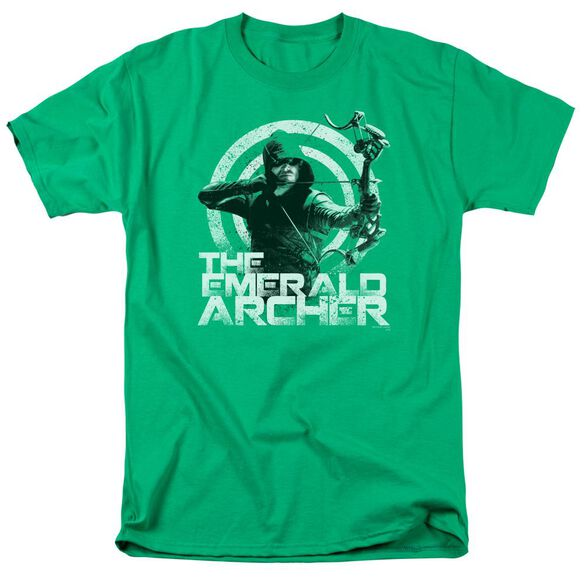 Arrow Archer Short Sleeve Adult Kelly Green T-Shirt