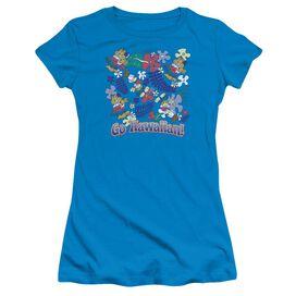 Garfield Go Hawaiian Short Sleeve Junior Sheer T-Shirt