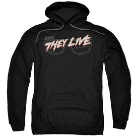 They Live Glasses Logo Adult Pull Over Hoodie