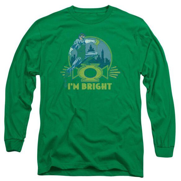 Lantern I'm Bright Long Sleeve Adult Kelly T-Shirt