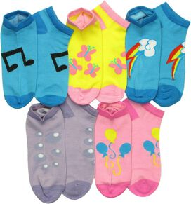 My Little Pony Cutie Marks 5 Pair Socks Set