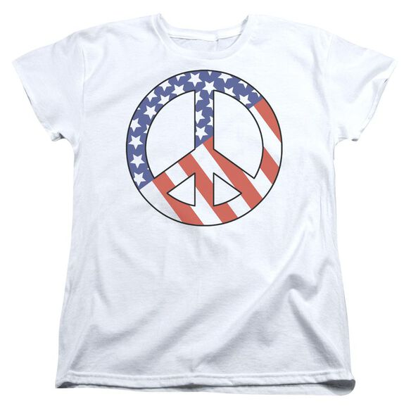 Patriot Peace Short Sleeve Womens Tee T-Shirt
