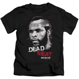 Rocky Iii Dead Meat Short Sleeve Juvenile Black Md T-Shirt