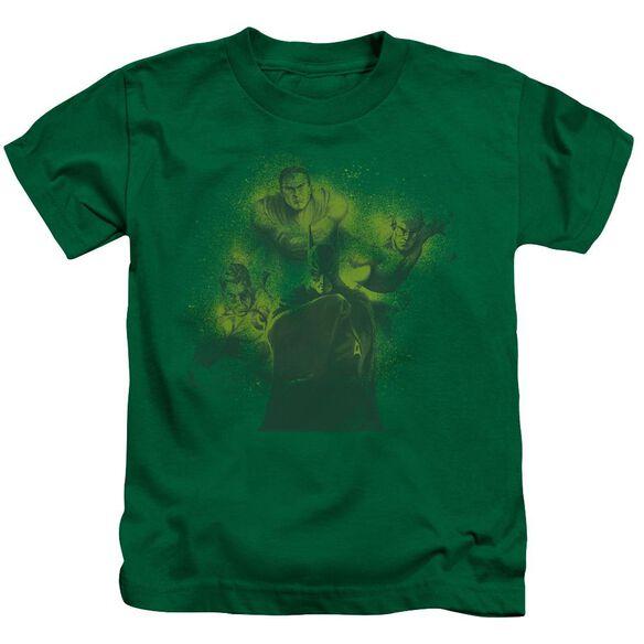 Dco Spray Sketch League Short Sleeve Juvenile Kelly Green T-Shirt