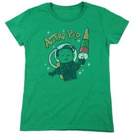 Astro Pop Astro Boy Short Sleeve Womens Tee Kelly T-Shirt