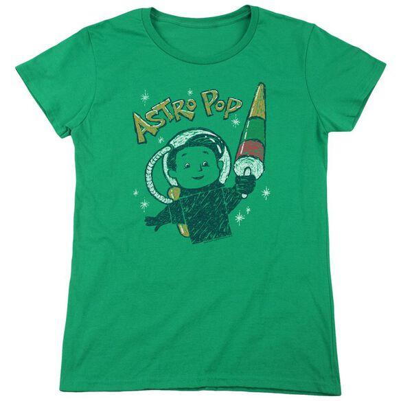 Astro Pop Astro Boy Short Sleeve Womens Tee Kelly T-Shirt