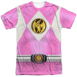 Power Rangers Pink Ranger Emblem Short Sleeve Adult Poly Crew T-Shirt