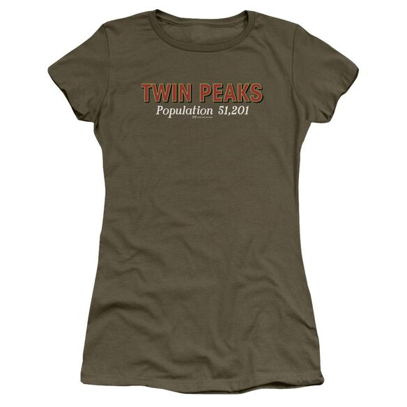 Twin Peaks Population Short Sleeve Junior Sheer Military T-Shirt