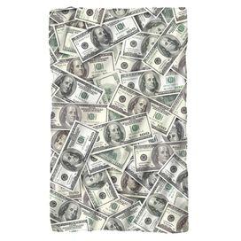 Hundred Dollar Bills Fleece Blanket