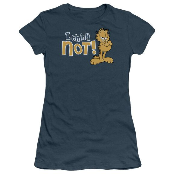 Garfield I Think Not Short Sleeve Junior Sheer T-Shirt