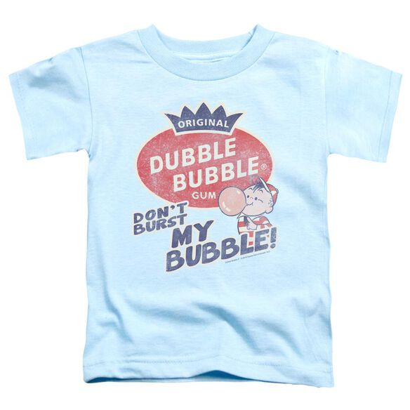 Dubble Bubble Burst Bubble Short Sleeve Toddler Tee Light Blue Sm T-Shirt