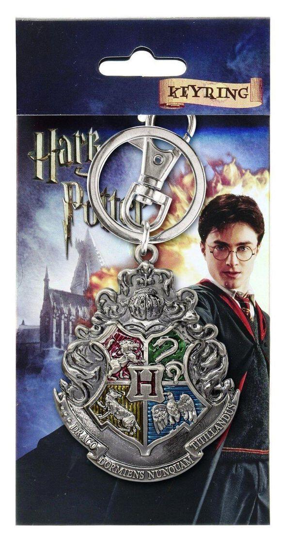 Harry Poptter Hogwarts School Crest Pewter Key Ring
