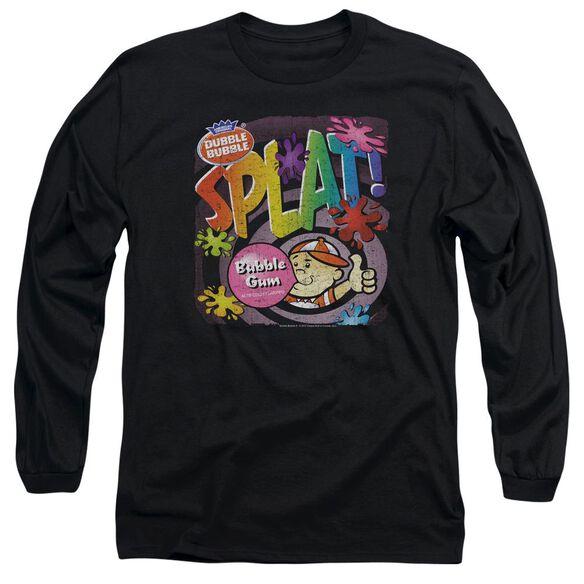 DUBBLE BUBBLE SPLAT GUM - L/S ADULT 18/1 - BLACK T-Shirt
