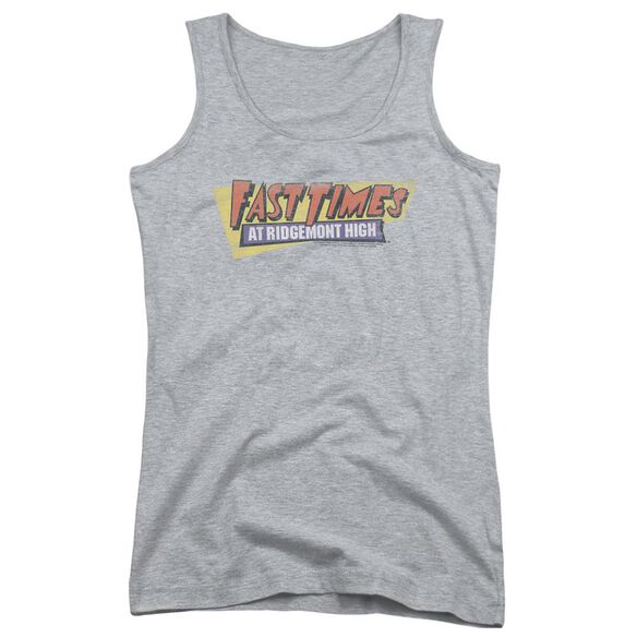 Fast Times Ridgemont High Distressed Logo Juniors Tank Top Athletic