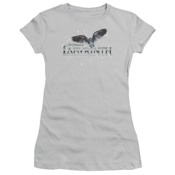Labyrinth Owl Logo Short Sleeve Junior Sheer T-Shirt