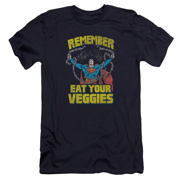 Superman Veggie Power Premuim Canvas Adult Slim Fit