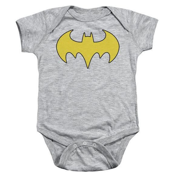 Dc Bat Girl Logo Infant Snapsuit Heather Lg